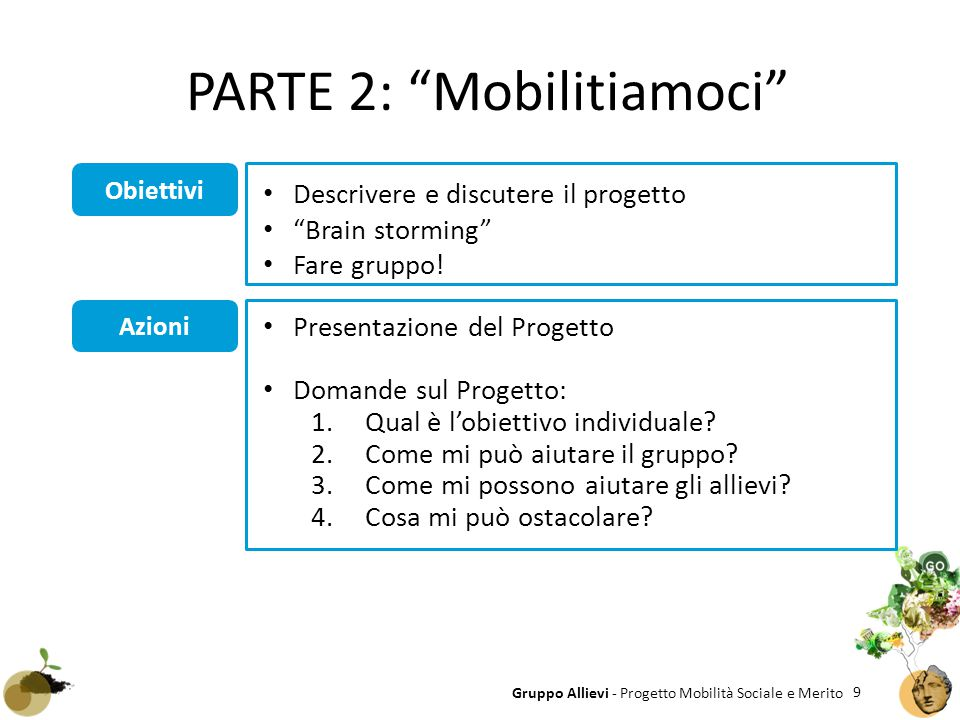 PARTE 2: Mobilitiamoci