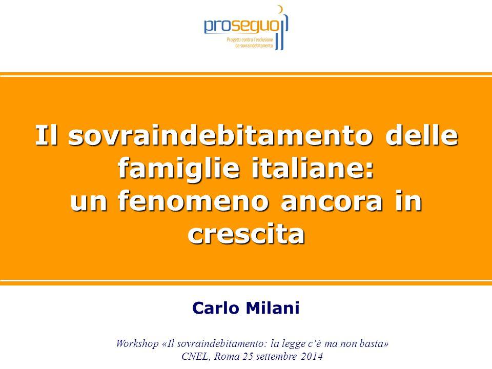 Il sovraindebitamento delle famiglie italiane: un fenomeno ancora in crescita