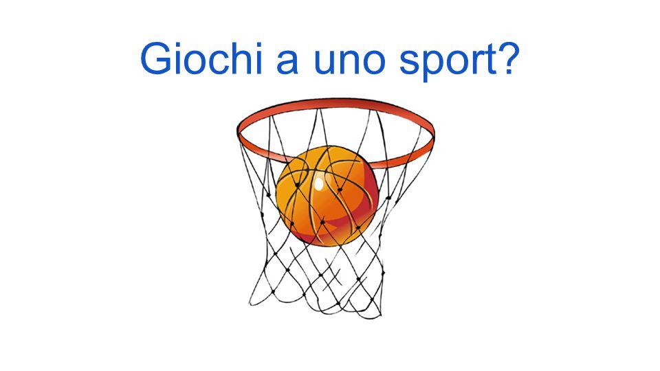 Giochi a uno sport