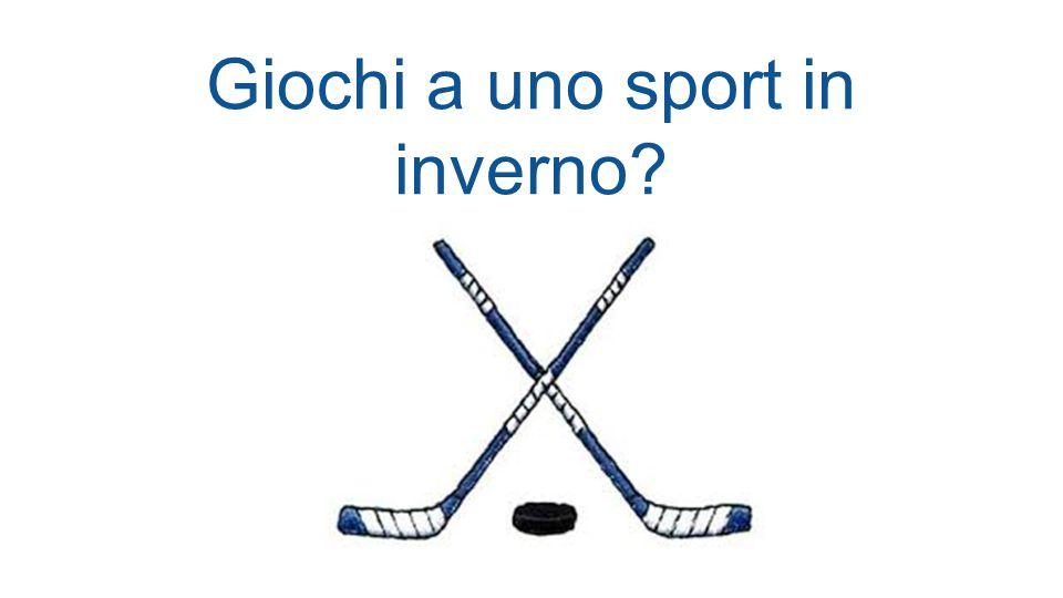 Giochi a uno sport in inverno