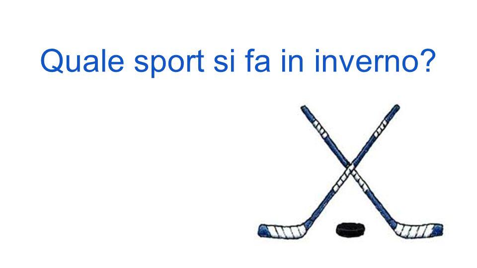 Quale sport si fa in inverno