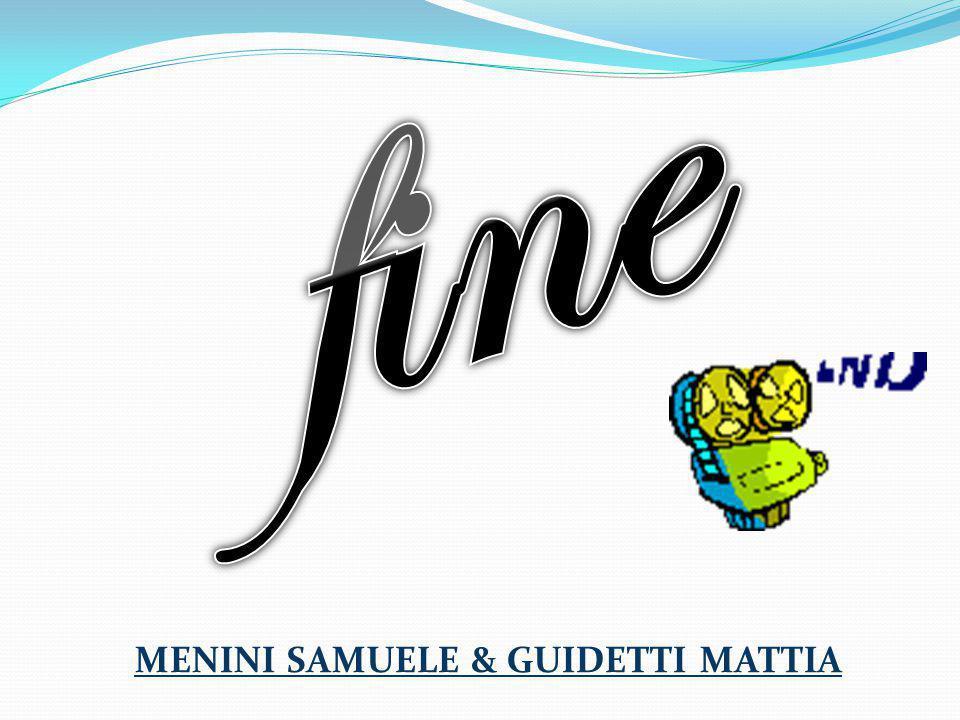 fine MENINI SAMUELE & GUIDETTI MATTIA