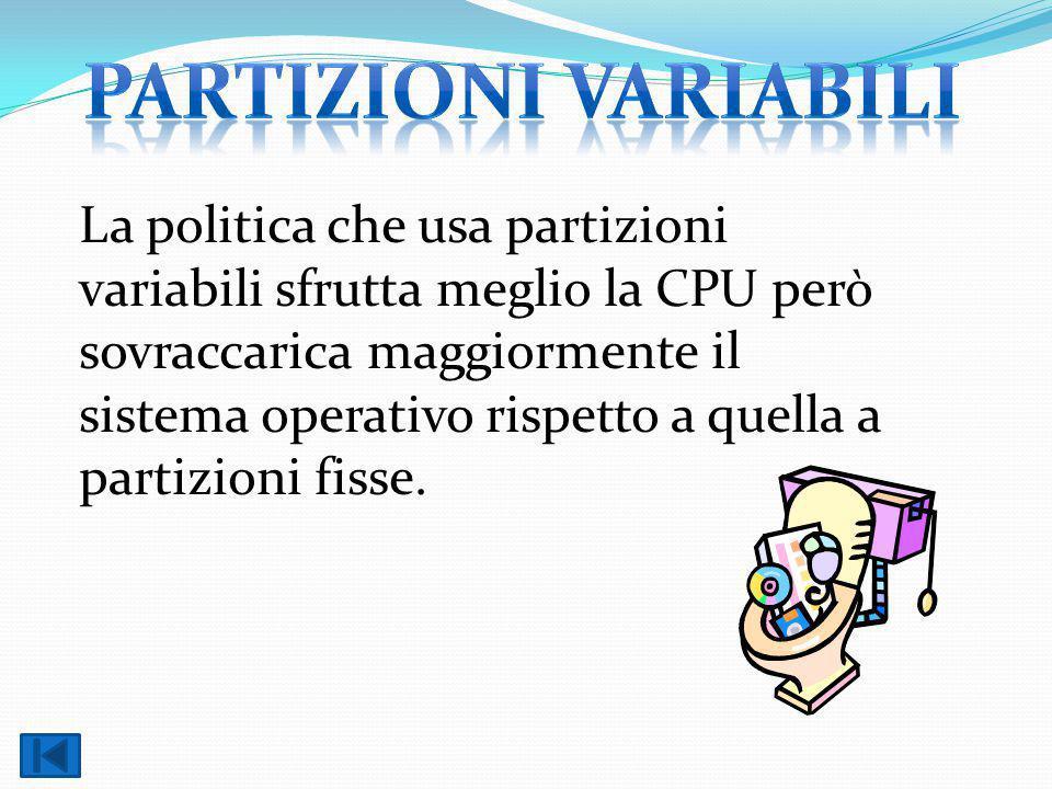 Partizioni variabili