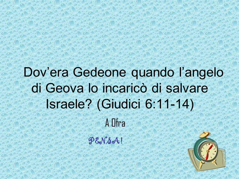Dov'era Gedeone quando l'angelo di Geova lo incaricò di salvare Israele (Giudici 6:11-14)