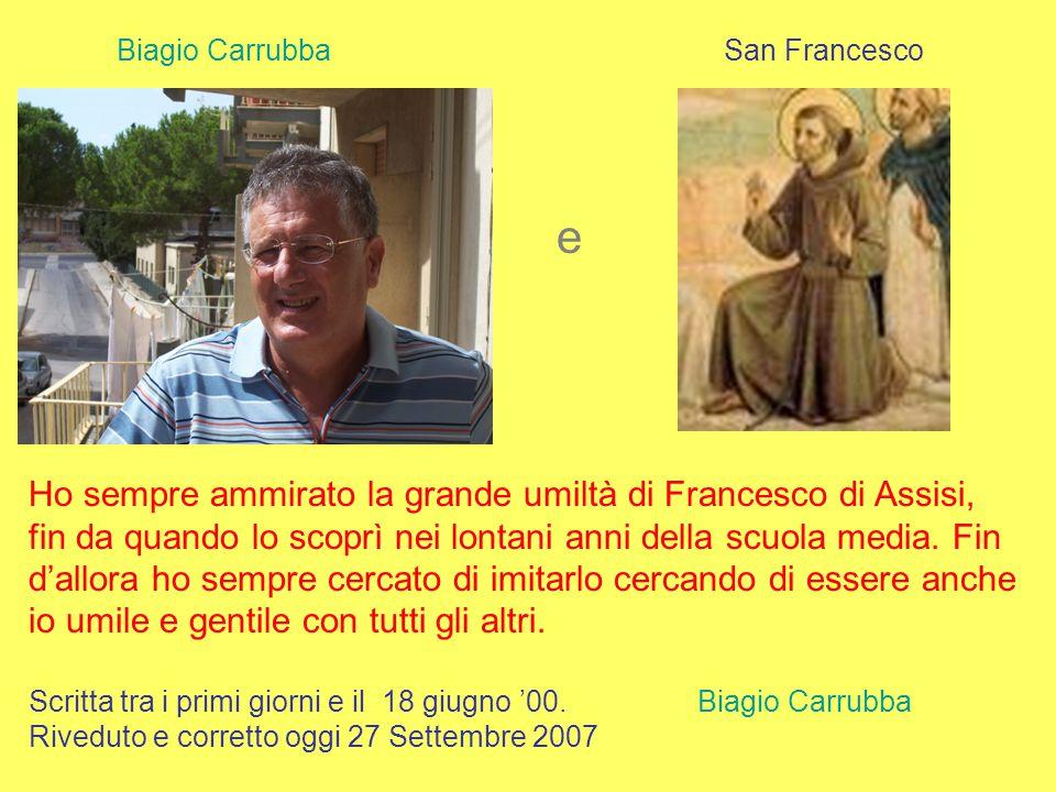 Biagio Carrubba San Francesco. e.