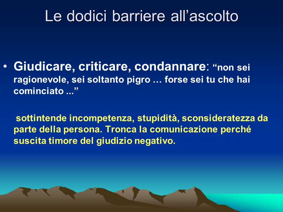 Le dodici barriere all'ascolto