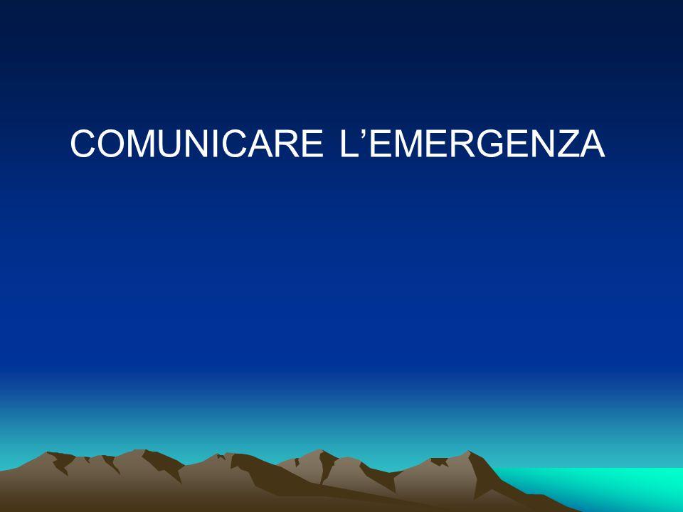 COMUNICARE L'EMERGENZA