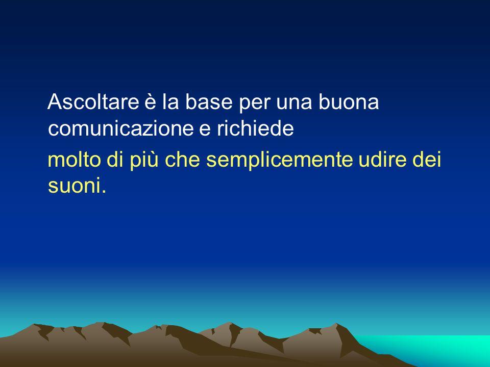 Ascoltare è la base per una buona comunicazione e richiede