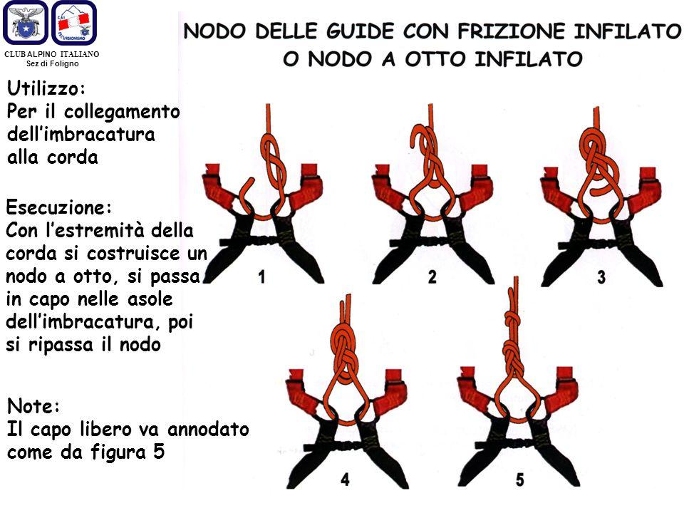 Per il collegamento dell'imbracatura alla corda