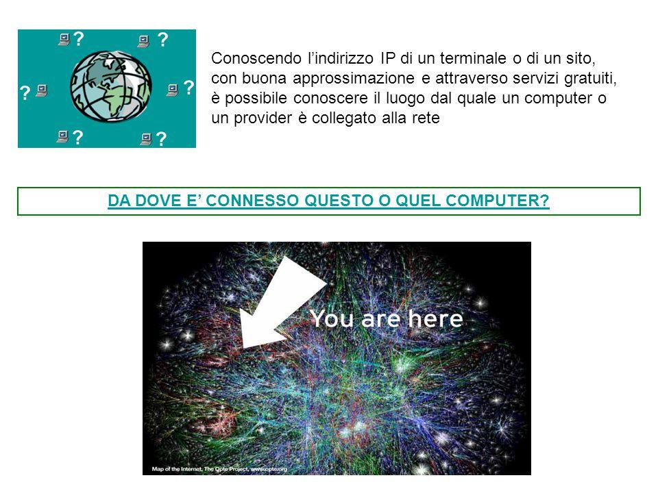 DA DOVE E' CONNESSO QUESTO O QUEL COMPUTER