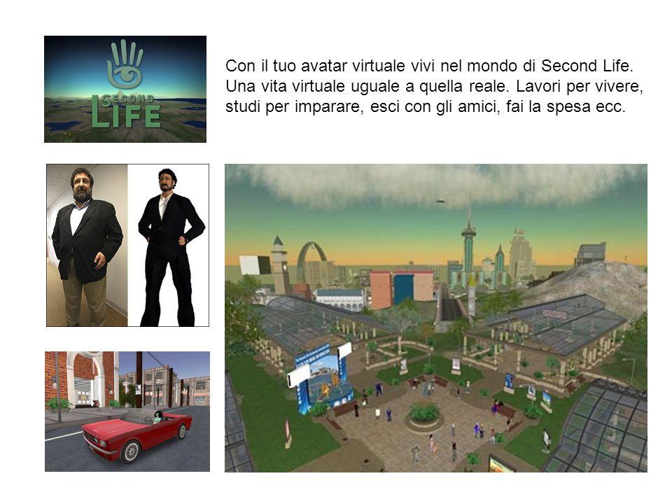 Con il tuo avatar virtuale vivi nel mondo di Second Life