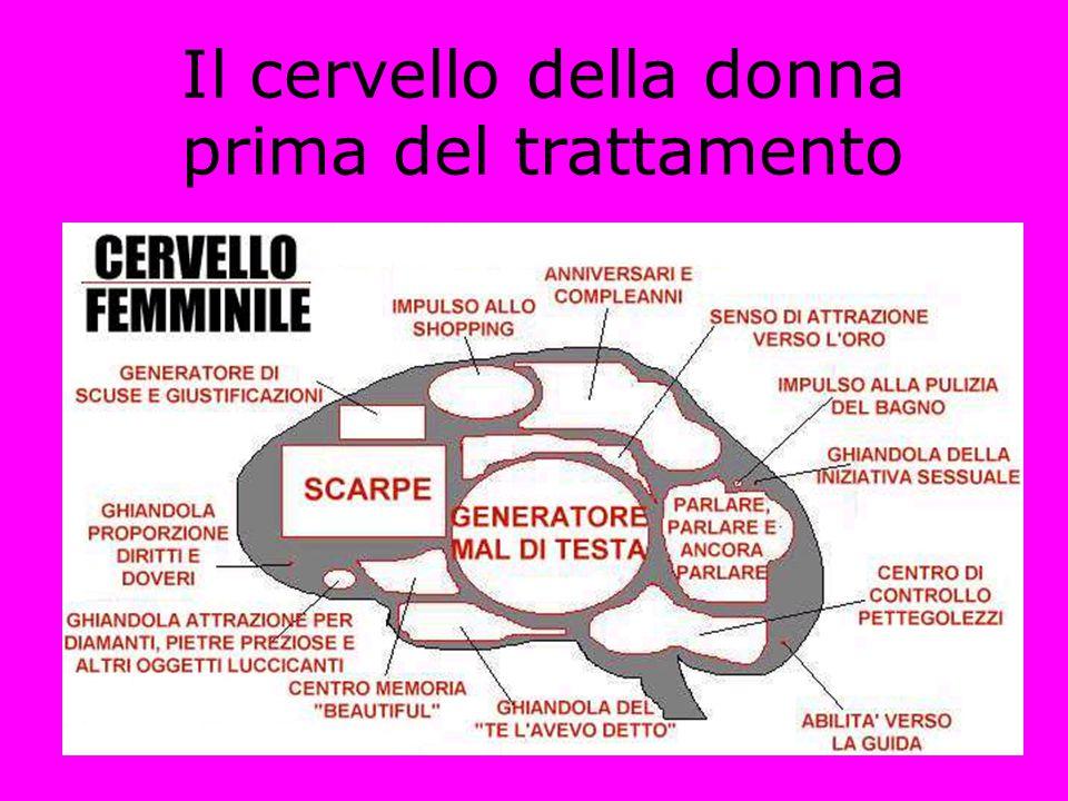 Il cervello della donna prima del trattamento
