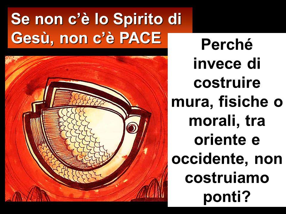 Se non c'è lo Spirito di Gesù, non c'è PACE
