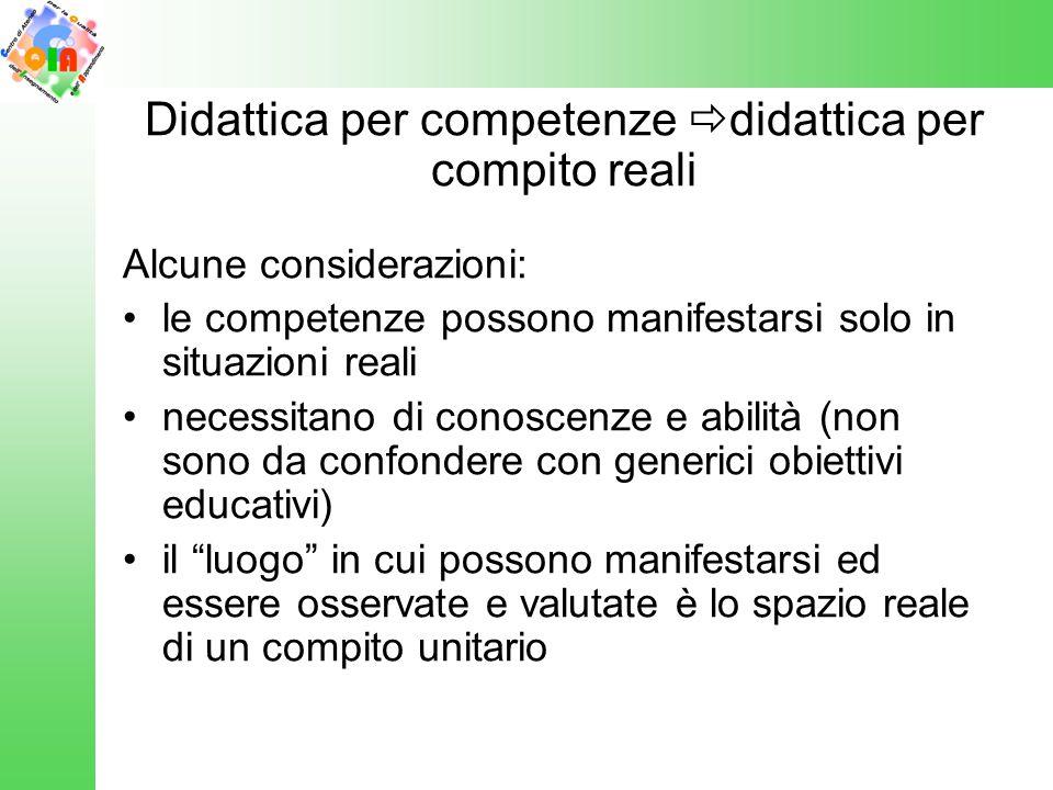 Didattica per competenze didattica per compito reali