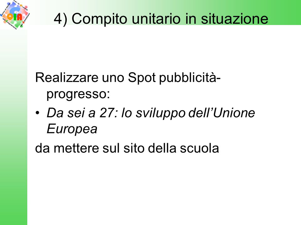 4) Compito unitario in situazione