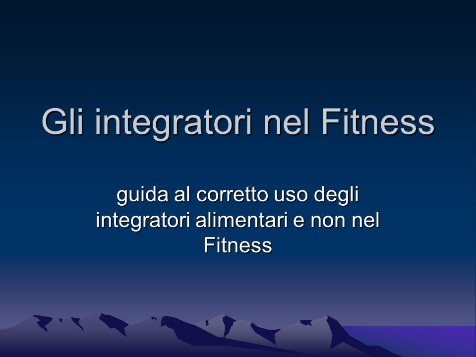 Gli integratori nel Fitness