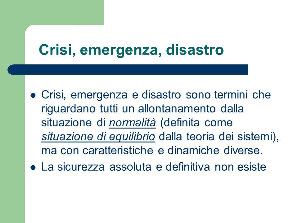 Crisi, emergenza, disastro