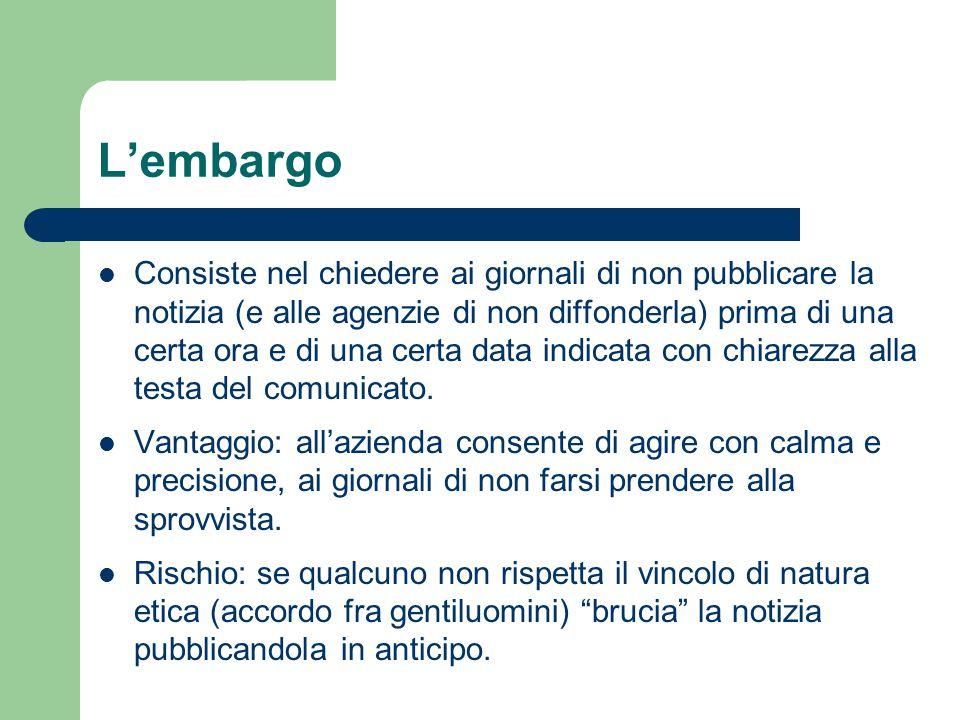 L'embargo