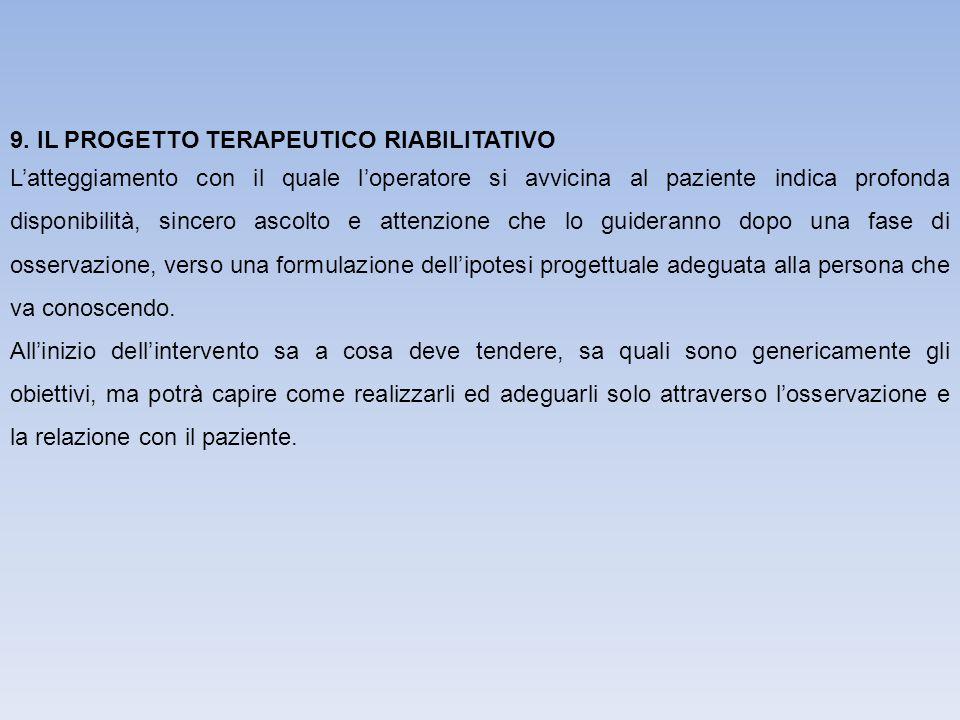9. IL PROGETTO TERAPEUTICO RIABILITATIVO