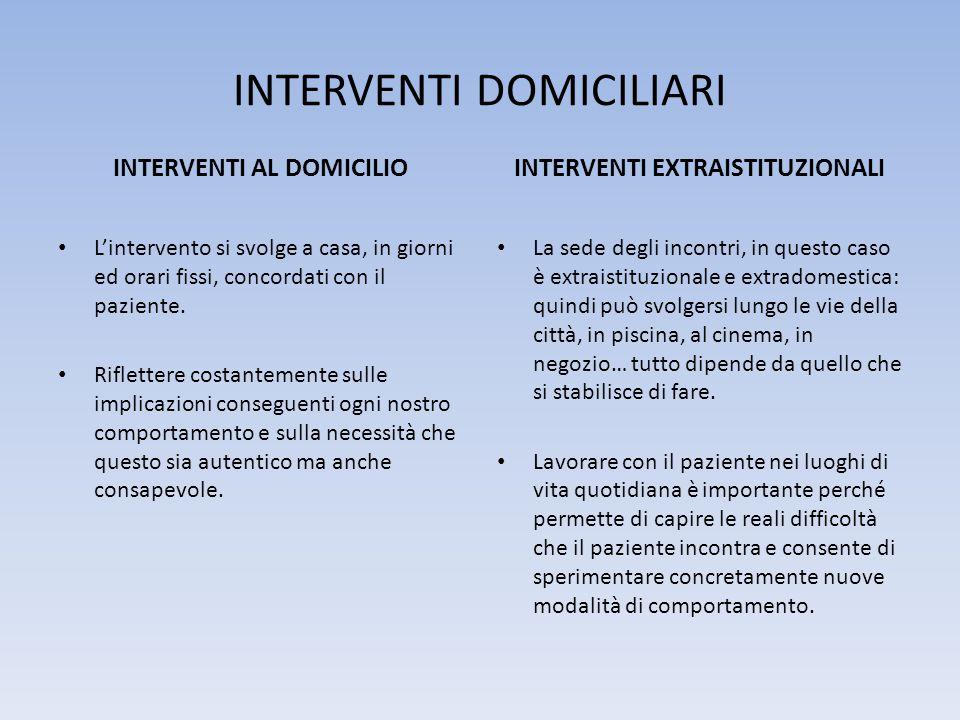 INTERVENTI DOMICILIARI