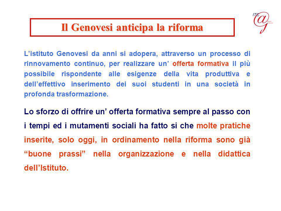 Il Genovesi anticipa la riforma
