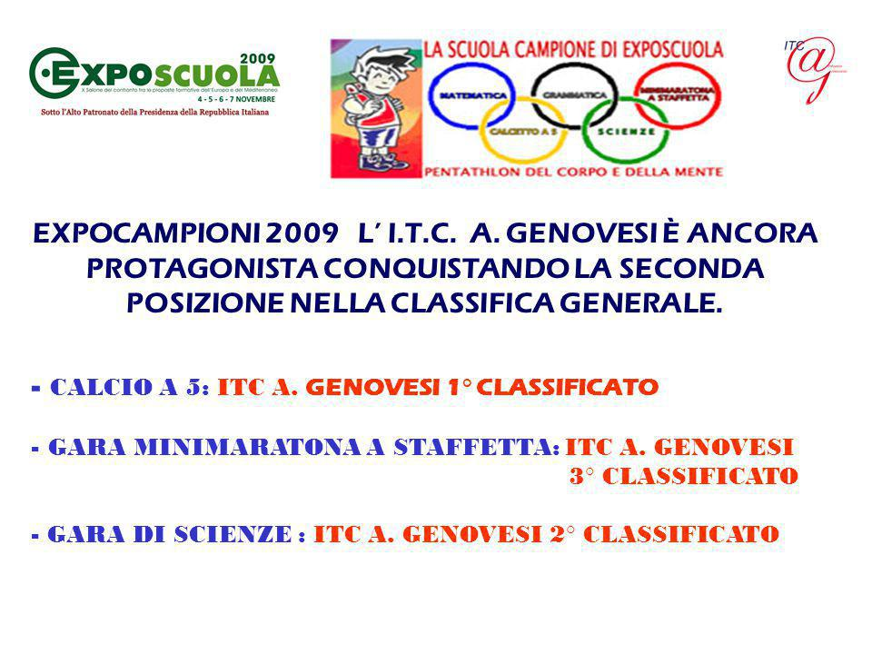 CALCIO A 5: ITC A. GENOVESI 1° CLASSIFICATO
