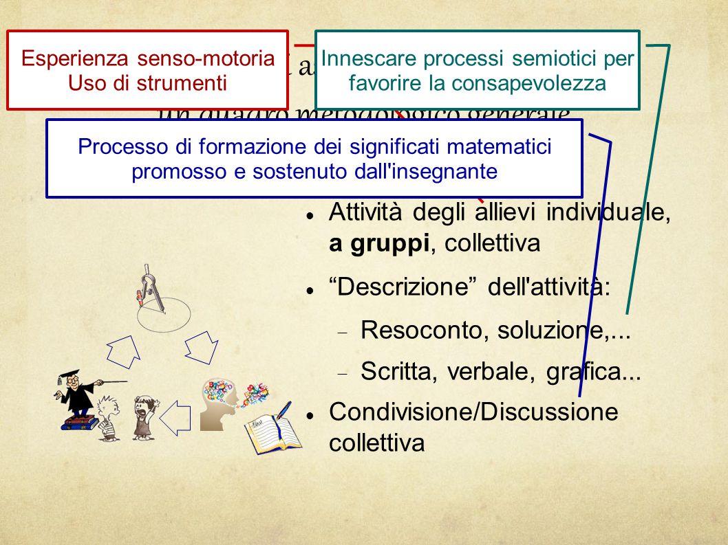 Sugli aspetti didattici: un quadro metodologico generale