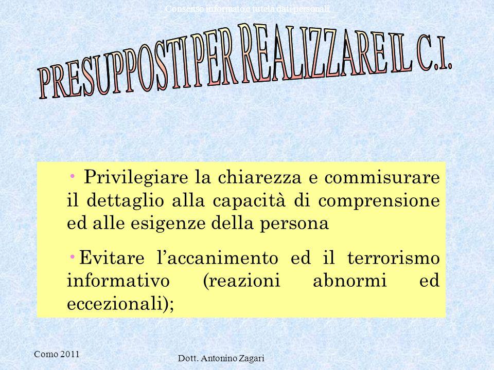 PRESUPPOSTI PER REALIZZARE IL C.I.