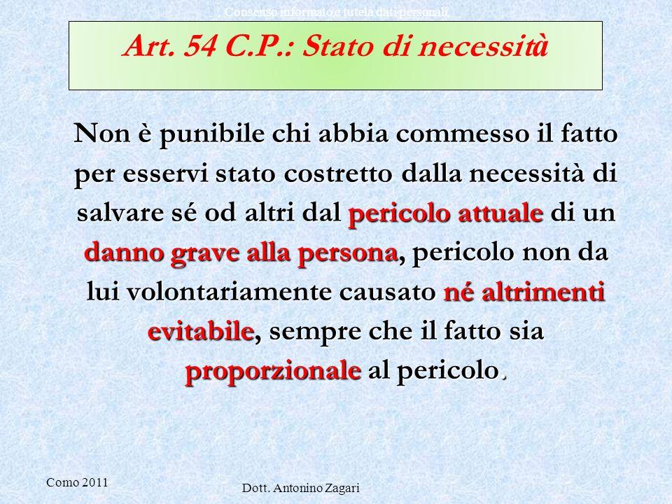 Art. 54 C.P.: Stato di necessità
