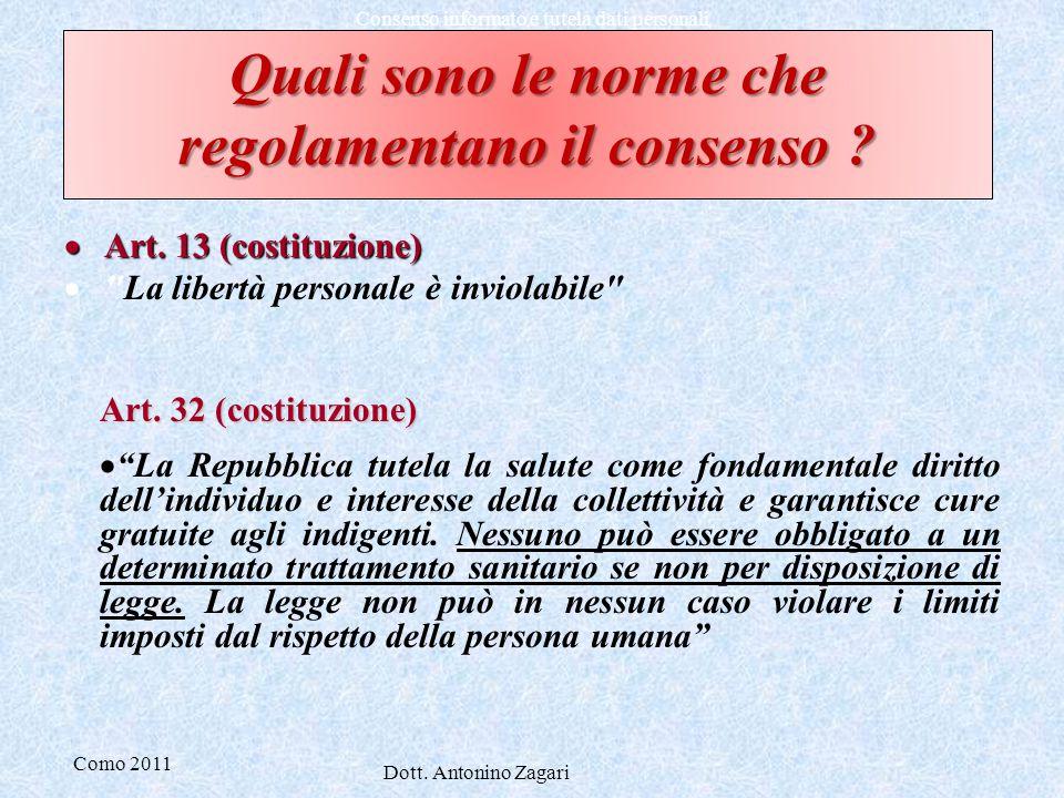 Quali sono le norme che regolamentano il consenso