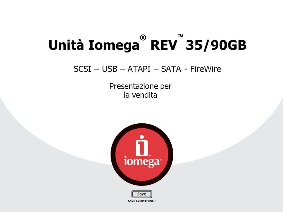 Unità Iomega® REV™ 35/90GB SCSI – USB – ATAPI – SATA - FireWire