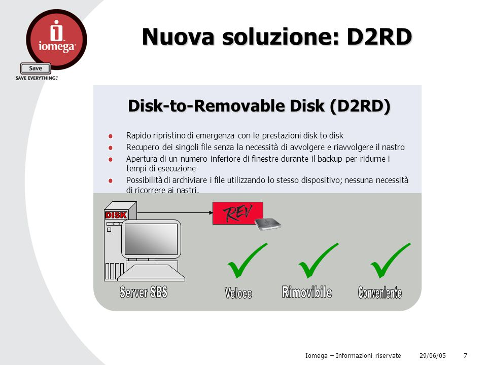 Disk-to-Removable Disk (D2RD)