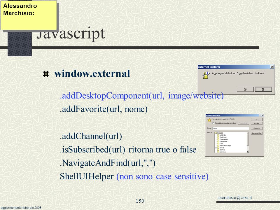 Javascript window.external .addDesktopComponent(url, image/website)