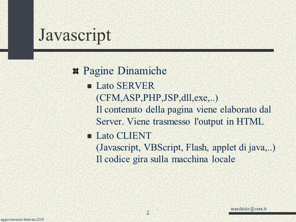 Javascript Pagine Dinamiche
