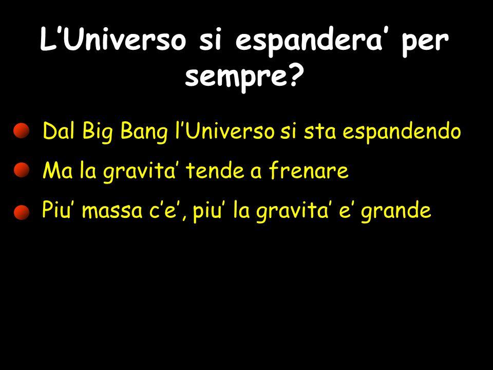 L'Universo si espandera' per sempre