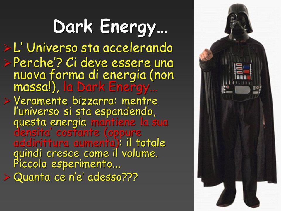 Dark Energy… L' Universo sta accelerando