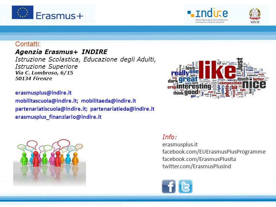 Contatti: Agenzia Erasmus+ INDIRE