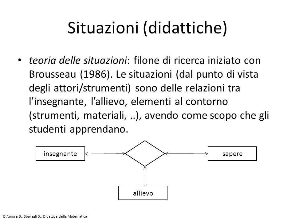 Situazioni (didattiche)