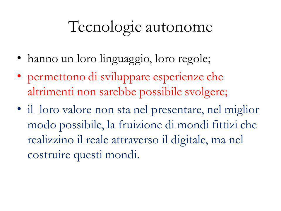 Tecnologie autonome hanno un loro linguaggio, loro regole;
