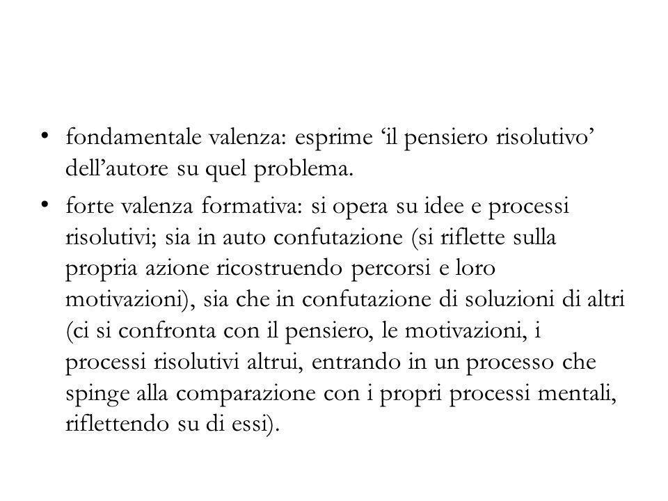 fondamentale valenza: esprime 'il pensiero risolutivo' dell'autore su quel problema.
