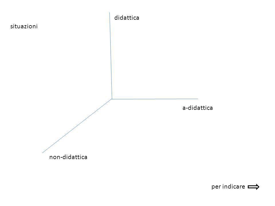 didattica situazioni a-didattica non-didattica per indicare