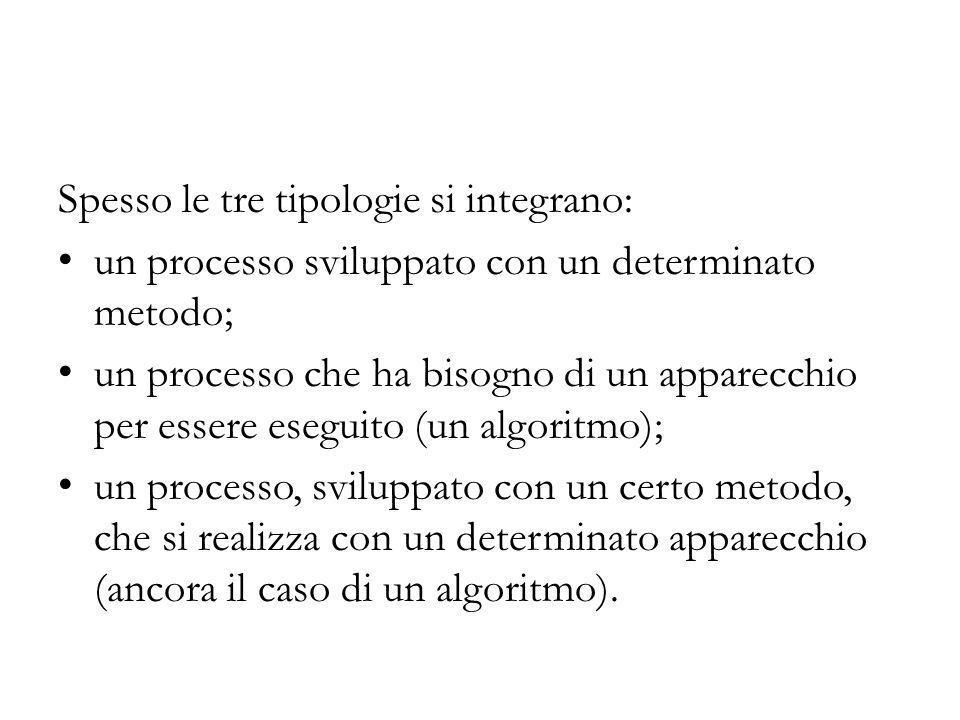 Spesso le tre tipologie si integrano:
