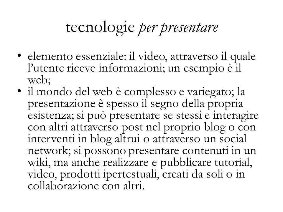 tecnologie per presentare