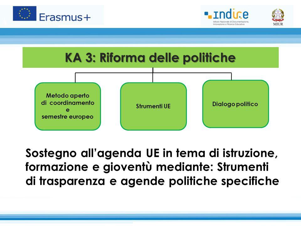 KA 3: Riforma delle politiche