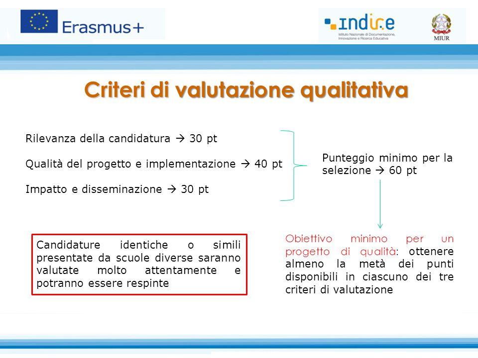 Criteri di valutazione qualitativa