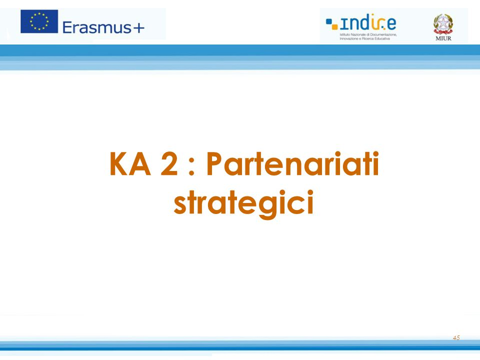 KA 2 : Partenariati strategici