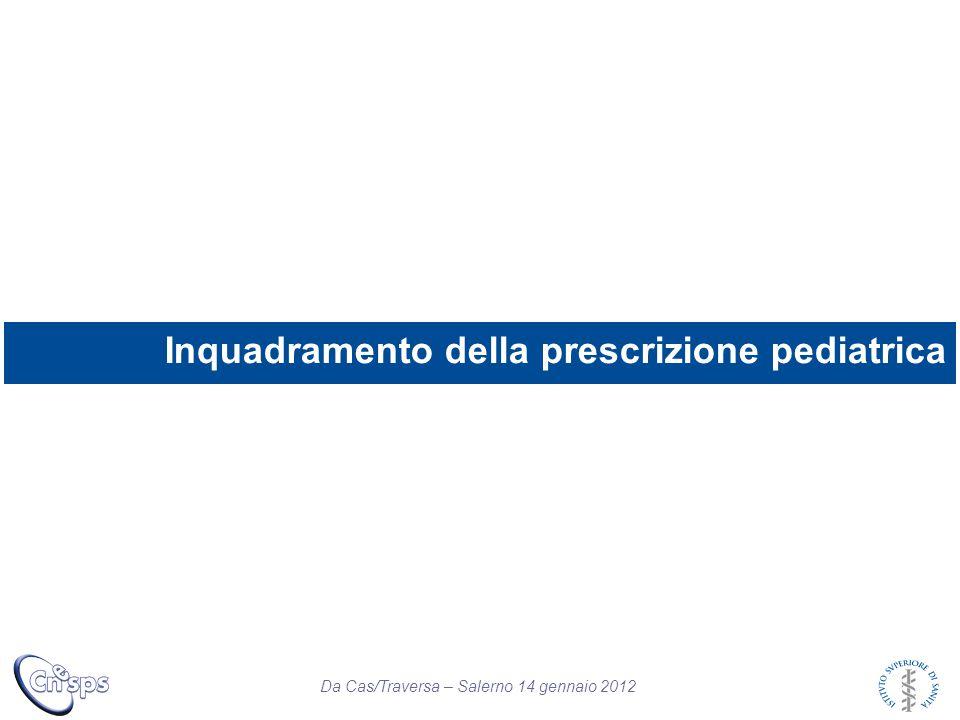Inquadramento della prescrizione pediatrica