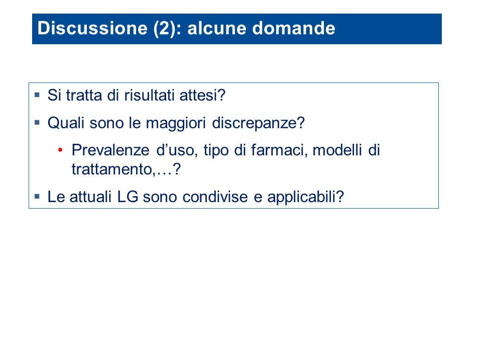 Discussione (2): alcune domande