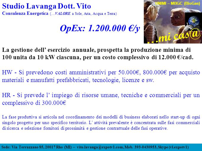 OpEx: 1.200.000 €/y