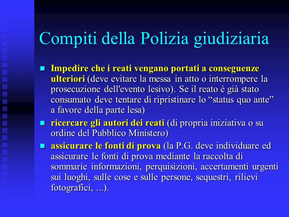 Compiti della Polizia giudiziaria